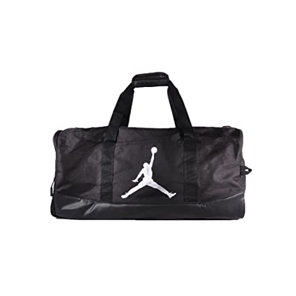 Amazon.com  Nike Air Jordan Jumpman Trainer Duffel GYM Bag (Black ... f56bfa8027296