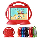 HCHA iPad Mini 4 3 2 1 Kids Case Kids Proof Shockproof Protective Case Durable Light Weight EVA Foam Stand Case Carrying Handles for iPad Mini 1 2 3 4 7.9 Inch NOT for iPad 2 3 4 or iPad Air (Red)
