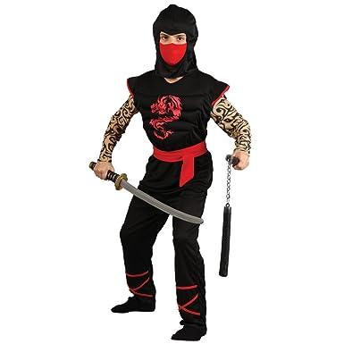 Diversión Disfraz Niños músculo del pecho Ninja Halloween ...