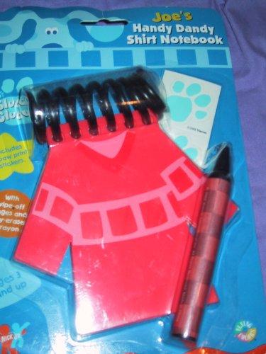 amazon com joe s handy dandy notebook shirt crayon blues clues