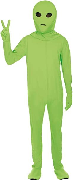 ORION COSTUMES Disfraz de Extraterrestre Verde Leotardo ...