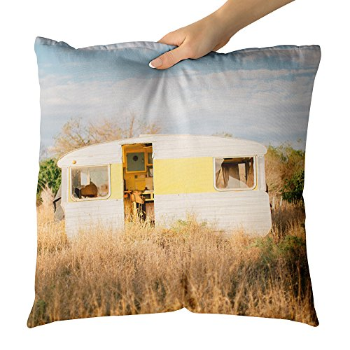 Westlake Art Caravan Trailer - Decorative Throw Pillow Cushion - Picture Photography Artwork Home Decor Living Room - 26x26 Inch - Outback Chair Hammock