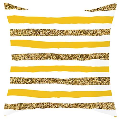 Kuhxz Trendy Pineapple Leaf Yellow Pillow Case Sofa Car Waist Throw Cushion Cover Home Decor 18
