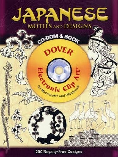 Japanese Motifs And Designs CD-ROM And Book (Dover Electronic Clip Art)