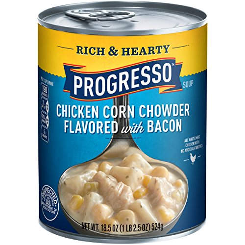 Progresso Rich and Hearty Soup, Chicken Corn Chowder, 18.5-Ounce Cans (Pack of 6)