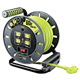 80ft Extension Cord Open Reel with 4 120V 10amp
