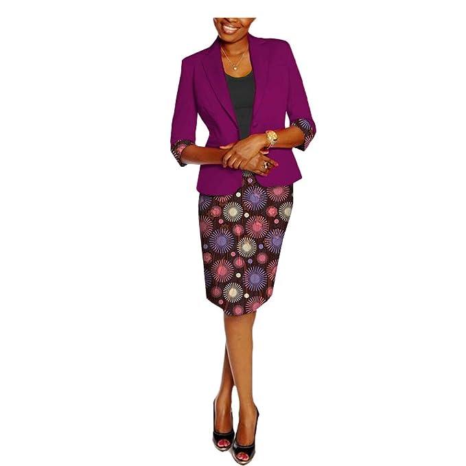 Amazon.com: Vestidos Africanos para Mujer Niña Ankara Traje ...