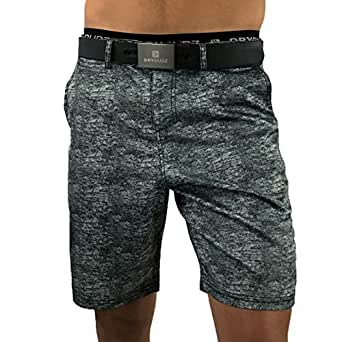 Mens Athletic Shorts, Perfect to be worn as Mens Boardshorts, Mens Golf Shorts or as Mens Swim Shorts (Black Granite, 32)