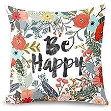 ZOMUSA Pillow Case, 1PC Thanksgiving New Living Room Sofa Car Decorative Cotton Blend Throw Pillow Case Cushion Cover Square 18 X 18 Inches (E)