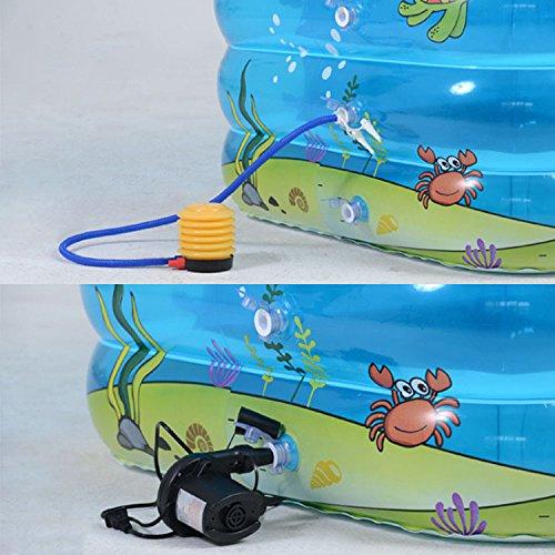 LIJUN Piscine Gonflable PVC Piscine Piscine Piscine Rectangulaire pour Piscine avec Pataugeoire,Blue-143 * 105 * 75cm 8782d8