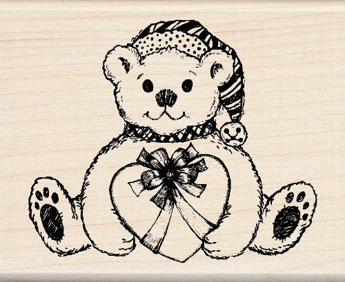 UPC 725718028718, Inkadinkado Wood Stamp, Holiday Bear