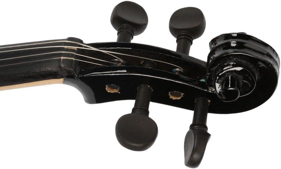 Black New 1//4 Size Acoustic Violin Fiddle Bright Sound W//Case Bow Rosin Bridge