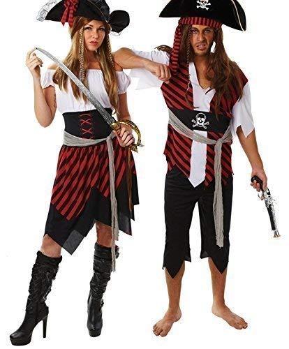 8fee1819a43703 Travestimento per Halloween, coppia di costumi da pirata per uomo/donna