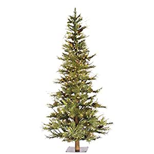 Vickerman Pre-lit Ashland Fir Tree with 200 Clear Dura-Lit Lights, 4-Feet, Green