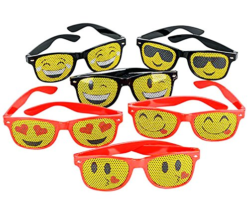 Emoji Mesh Sunglasses ~ 12 Pack ~ Great For party Favors, Prizes, - Sunglasses Emoji