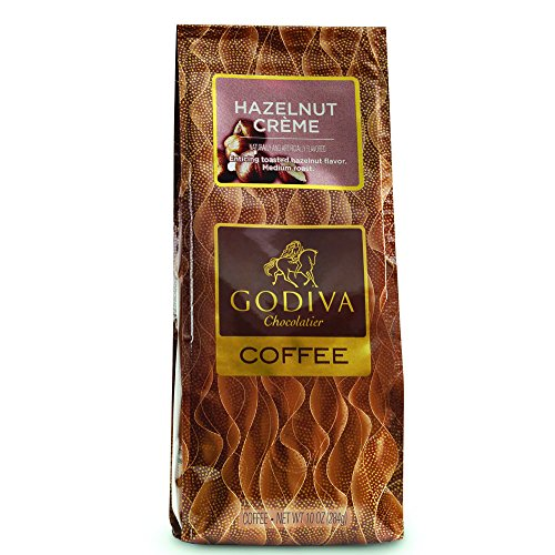 Our Hazelnut Creme Coffee features a rich blend of toasted hazelnut flavors in a medium-bodied GODIVA roast. GODIVA carefully selects the finest coffee beans in the world for exceptional quality and taste. Beans are precision ground at the pe...