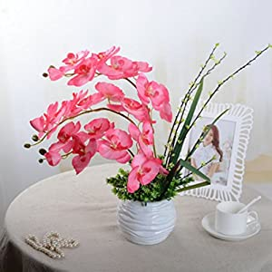Flowers DIY Artificial Butterfly Orchid Bouquet Phalaenopsis Wedding 110