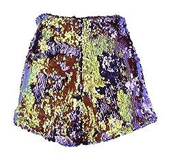Purple/Gold Sequins Short