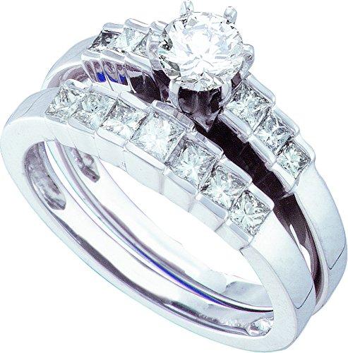 1.00CTW DIAMOND LADIES BRIDAL RING WITH 0.40CT ROUND CENTER (Ct 0.4 Round Center)