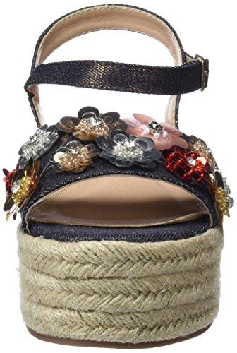 Maria Multicolore Textil Ouvert Rosa Mare Bout Oro Sandales Fabia Femme qrHCTq
