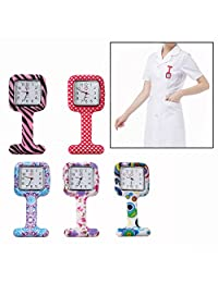 OFKPO New Pattern Nurse Watch Lapel Silicone Pocket Watch 5 Colors Tunic Brooch Fob Medical Watch