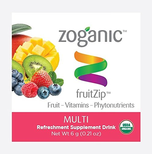 Zoganic Pre-measured Multi-Flavored Drink Mixes ONE PACK - Nutritional Drinks with Vitamin C, B Vitamins & Selenium for Complete Daily Nutrition! Organic, Refreshing & Tasty Drink Mix! (1 packet ONLY) (Powdered Health Drink)