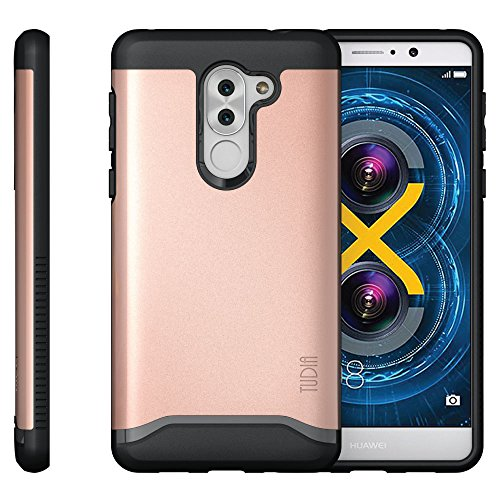 Huawei Honor 6X Funda, Caja protectora TUDIA MERGE TAREA PESADA Protección EXTREME de doble capa para Huawei Honor 6X (Oro Rosa) Oro Rosa