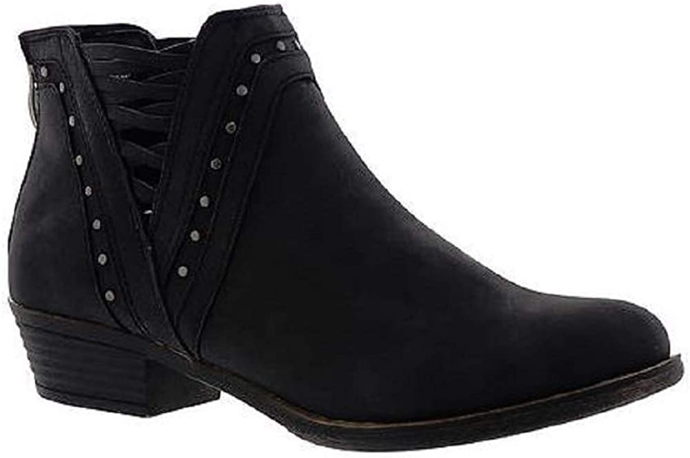 Sugar Womens Threaded Ankle Bootie Black 6