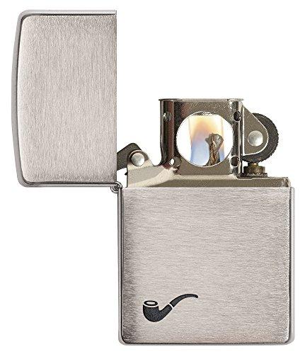 Zippo Pipe Lighter, Brushed Chrome
