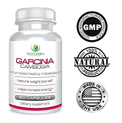 Premium Garcinia Cambogia Extract 1000mg Per Serving - 100% Pure Natural Weight Loss Supplement - Powerful Appetite Suppressant - Burn Fat Faster & Feel More Energized - Safe and Effective