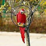 Baoblaze DIY Home Garden Tree Vivid Decoration Resin Parrot Model Statues Collectible