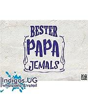 Indigos UG Stickers/Autosticker - JDM/Die Cut - Bester Papa ooit - 110 x 90 mm - Carnaval mannendag Vaderdag hemelreis mannen party kegels herendag blauw