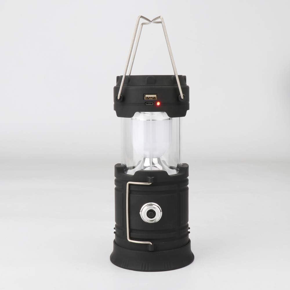 VOANZO LED Camping Linterna 18650 Batería de Litio Carga Solar Multifunción de Emergencia Camping Lámpara Telescópica de la Tienda