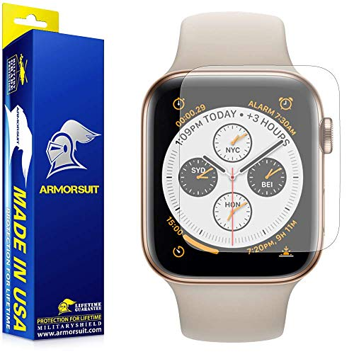 ArmorSuit Apple Watch Series 4 Anti-Glare Screen Protector (44mm)(2 Pack) MilitaryShield Full Coverage Screen Protector Compatible with Apple Watch Series 4 (44mm) - Matte Anti-Bubble