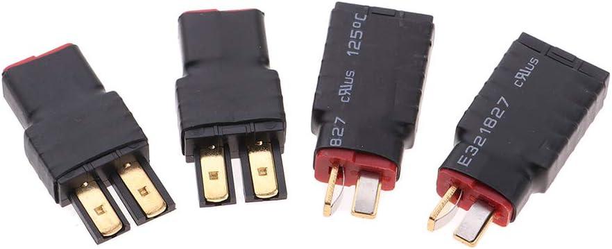 SM SunniMix 4 Piezas de TRX Adaptadores Macho y Hembra T-Plug para Baterías Lipo Cable para Modelos RC