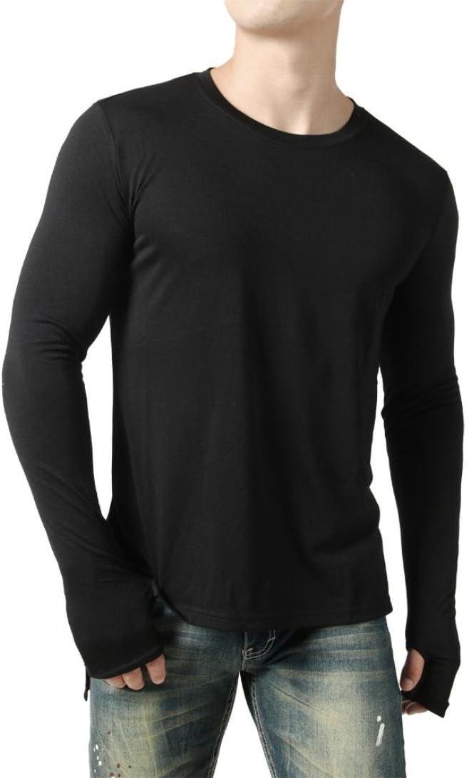 WWricotta LuckyGirls Camisetas Hombre Manga Larga Personalidad Conexión de Guantes Color Sólido Casual Slim Fit Camisas Streetwear Sudaderas Chándales Ropa de Casa: Amazon.es: Deportes y aire libre