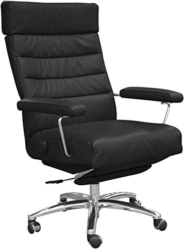 Adele Executive Recliner Office Chair Black Leather