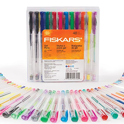 Fiskars 12-27457097J Gel Pen Set, 48-piece - Multiple Colors