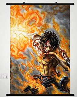 Wall Scroll Poster Fabric Painting For Anime One Piece Portgas D Ace 344 L
