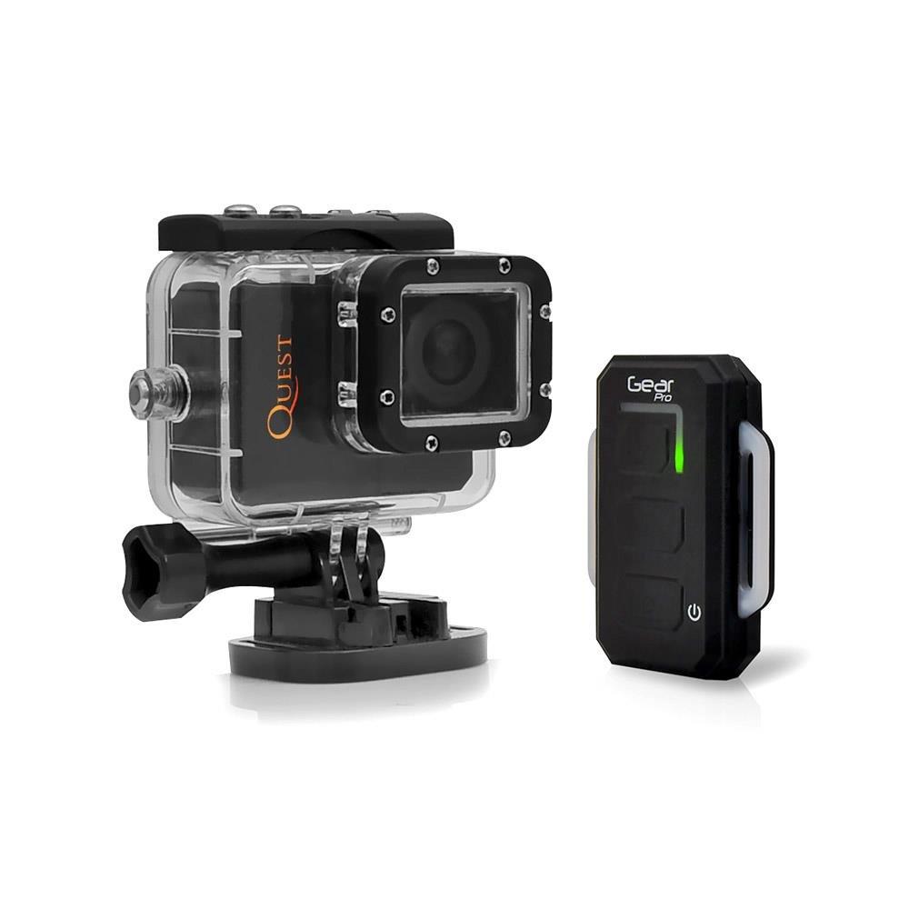 Sound Around GDV985HDWFBK HD Video Recording Gear Pro HD Hi-Res Mini Action Wi-Fi Cam, 1080p Video, 20 Mega Pixel Camera, 2-Inch LCD Screen Display, Includes Remote Control