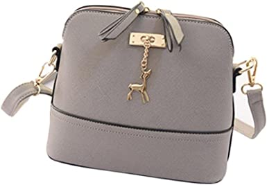 Hot Women Casual Messenger Bags Vintage Small Shell Leather Handbag Tote Bags
