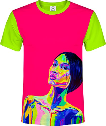 aofmoka Asia Brazilian Nature Black Wave Clips Wigs Girls Women Lady T-Shirt Men ()