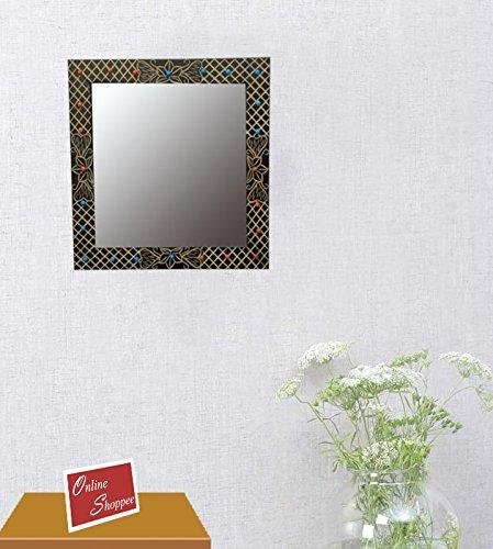 Onlineshoppee MDF Decorative Wall Mirrorr Square Shape