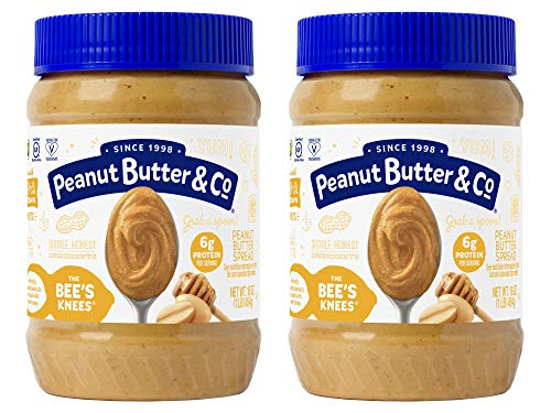 - Peanut Butter & Co. The Bees Knees (Honey) Peanut Butter, Gluten Free, 16 oz Jars (Pack of 2)