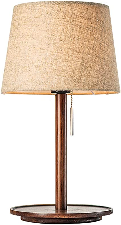 Bedside Light Table Lamp Desk Lamps Nordic Minimalist Ideas Wood Base Table Lamp Eye Protection Bedroom Bedside Art Deco Antique Style Energy Class A Zhml Color A Size Pull Switch