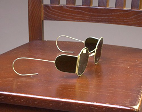 HANUKKAH SALE 1930s New Steampunk sunglasses with side shields New Vintage sunglasses WW2 - Sunglasses Ww2