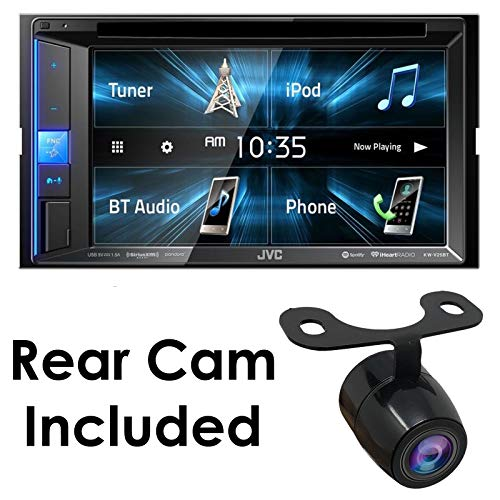 """KW-V25BT 6.2"""" Car DVD/CD Multimedia WVGA Receiver Bluetooth Monitor Sirius XM/iPhone/Android with HD Rear View Camera"""