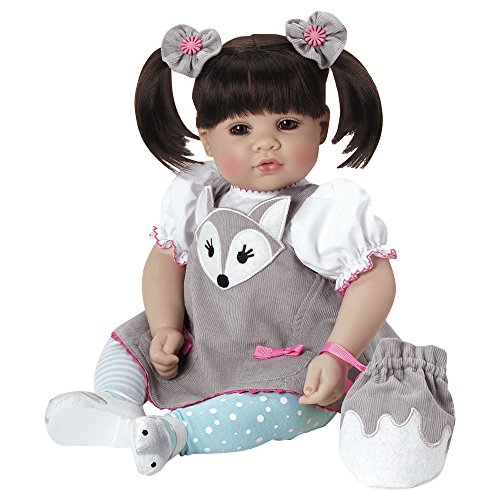 Adora Toddler Silver Fox Doll 20 Girl Weighted Doll Gift Set for Children 6 Huggable Vinyl Cuddly Snuggle Soft Body Toy