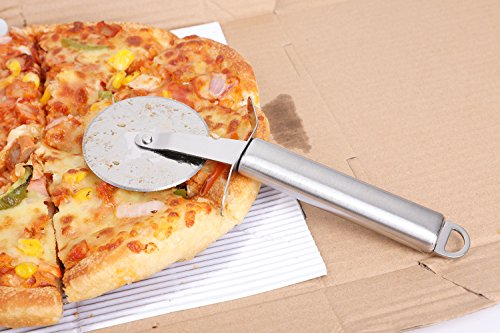 Kitchen Gadget Tool- Pizza Knife &Cheese Knife Set 4-Piece Stainless Steel Pizza Cutter, Pie Server, Cheese Knife,Cheese Slicer (Pizza Knife &Cheese Knife Set)