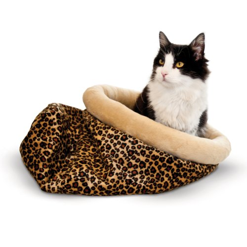 Snuggle Sack (K&H Pet Products Self-Warming Kitty Sack Leopard 15